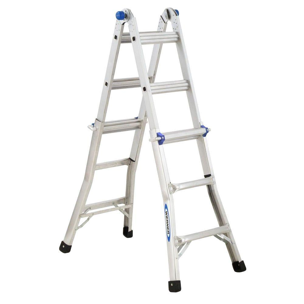 Werner 300-Pound Duty Rating Telescoping Multi-Ladder