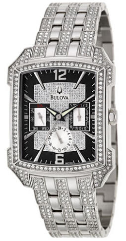 $139 Bulova Men's Crystal Watch 96C108