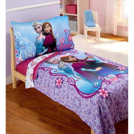 $35.48 Disney Frozen Elsa & Anna 4-Piece Toddler Bedding Set
