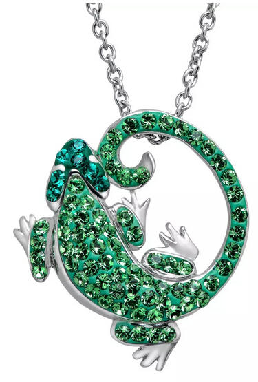 Lizard Pendant with Swarovski Crystal Only $24 Plus Free Shipping