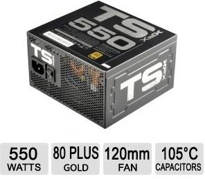 $39.99 550 Watt XFX TS Series 80 Plus Gold Certified Active PFC Power Supply (P1-550G-TS3X)