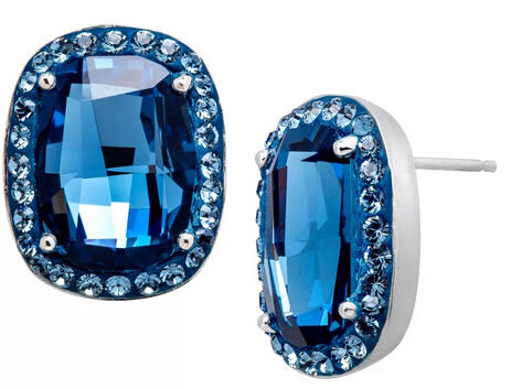 $29 Stud Earrings with Denim Swarovski Crystal