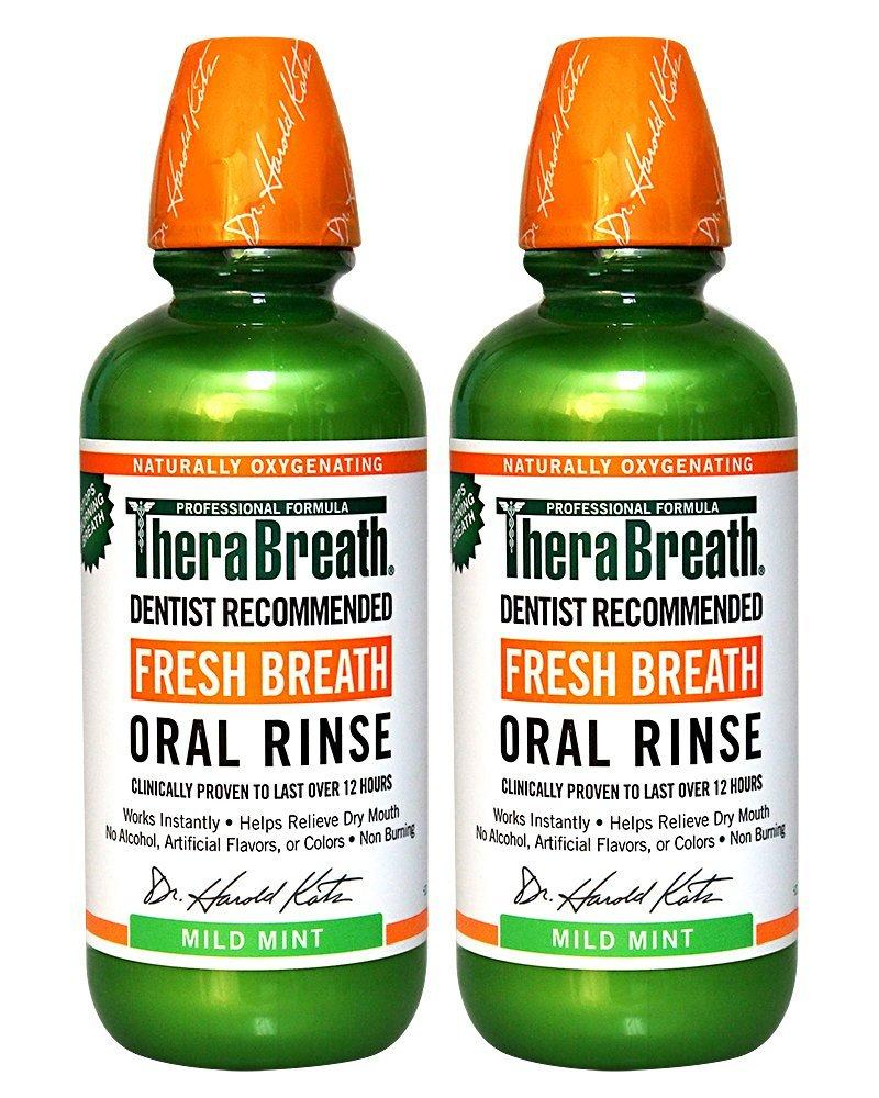 TheraBreath Dentist Recommended Fresh Breath Oral Rinse 16 Ounce (Pack of 2)