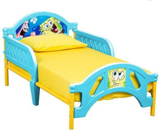 $39.98 Nickelodeon SpongeBob SquarePants Toddler Bed, 10th Anniversary Edition