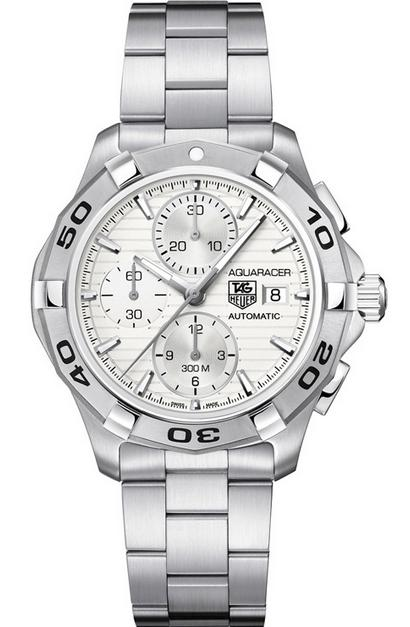 Tag Heuer Men's Aquaracer Automatic Silver Dial Stainless Steel Watch CAP2111.BA0833