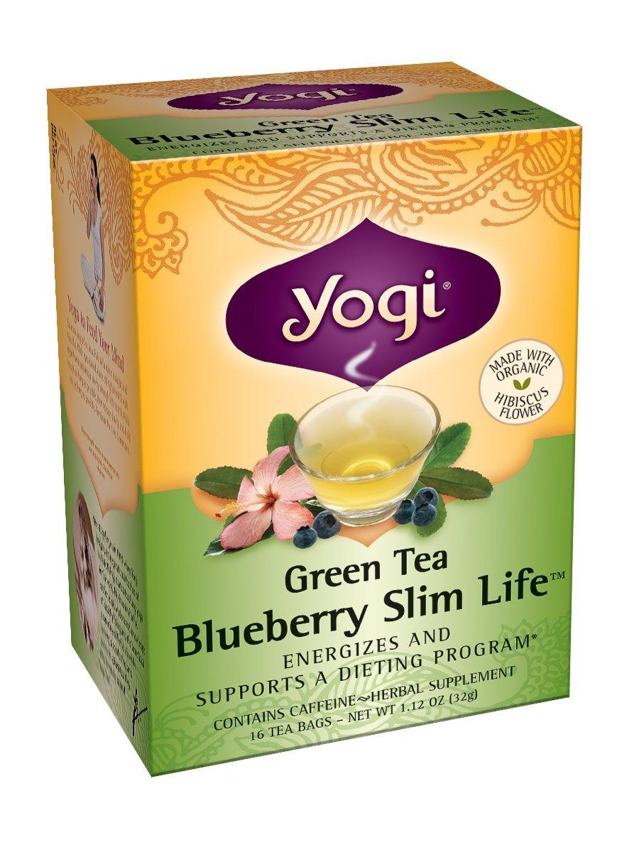 $16.47 Yogi Blueberry Slim Life Green Tea, 16 Tea Bags (Pack of 6)