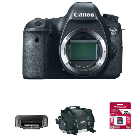 Canon EOS 6D DSLR Camera (Body Only) + PRO-10 Printer + Canon Bag and 32GB SD Card