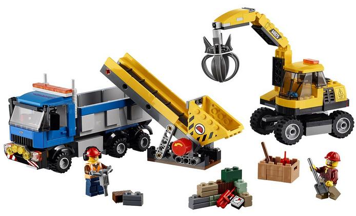 LEGO City Demolition Excavator and Truck 6100269