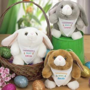 """Easter Bunny Plush - 9"""", 3 Colors Available"""