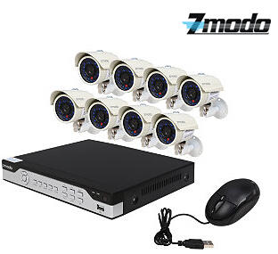 $169.99 Zmodo KHI8-YARUZ8ZN 8 Channel H.264, 960H DVR Security System