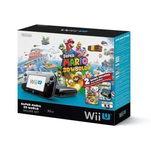 $259.99 Wii U 32GB Black Deluxe Set w/ Super Mario 3D World & Nintendo Land