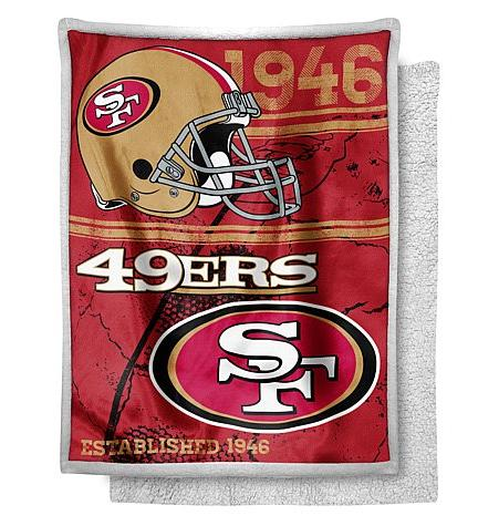 "$10 NFL 60"" x 80"" ""Mink"" Sherpa Throw - 49ers"