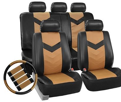 $31.49  Set of Faux-Leather Car Seat Covers