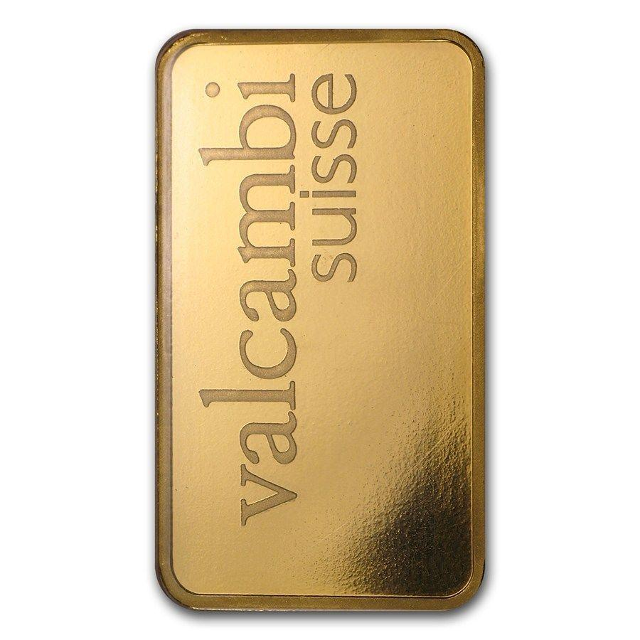 $1,158.20 1 oz Valcambi Suisse Gold Bar In Assay .9999 Fine