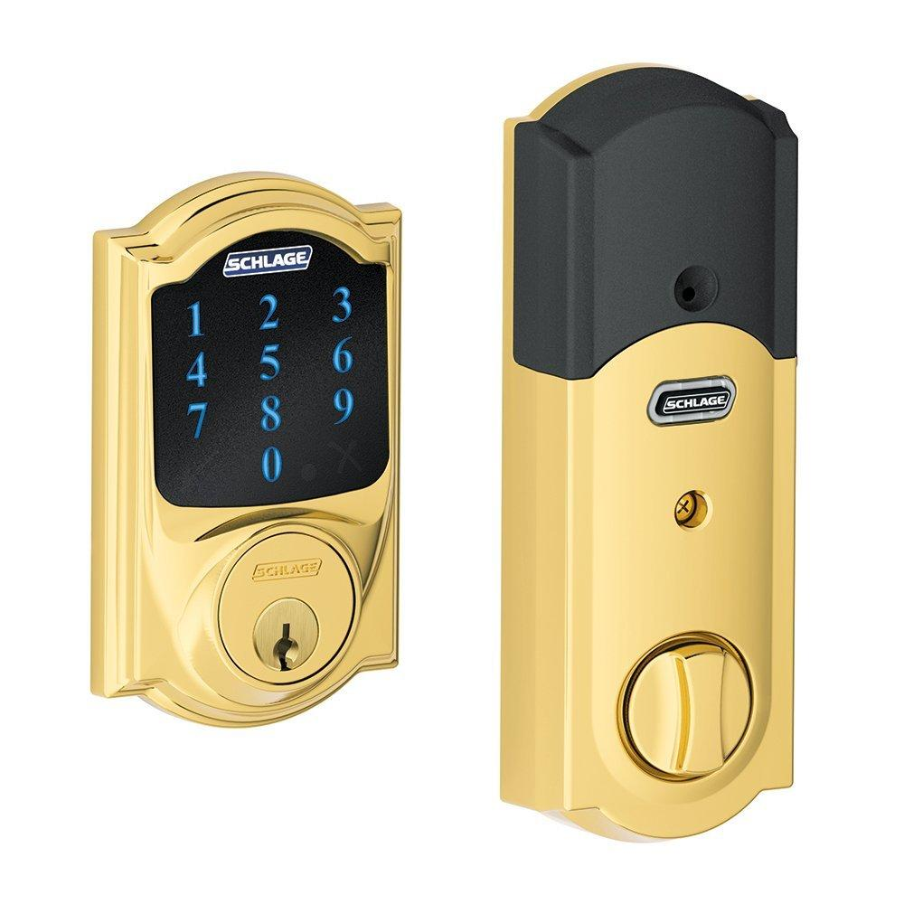 $159.99 Schlage Connect Camelot Touchscreen Deadbolt with Built-In Alarm