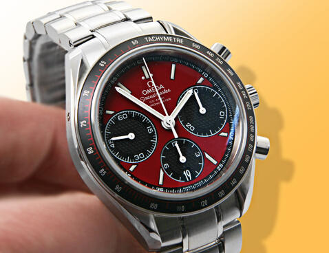 $2895 Omega Speedmaster Racing Automatic Chronograph Red Dial Stainless Steel Mens Watch 32630405011001