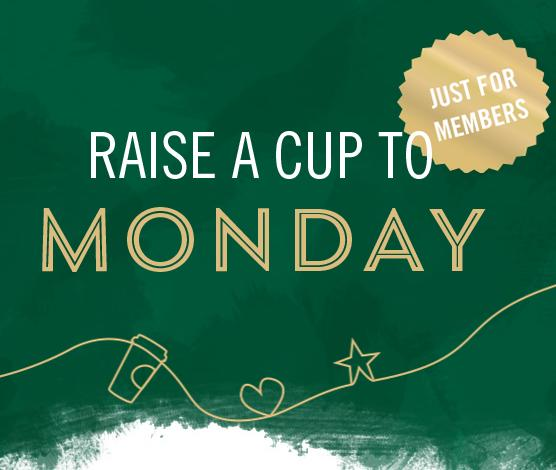Happy Monday Offers For Starbucks Rewards Members @ Starbucks