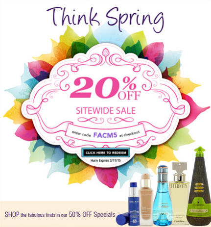 Up to 80% Off + Extra 20% OffSelect Fragrances Sitewide @ FragranceNet.com