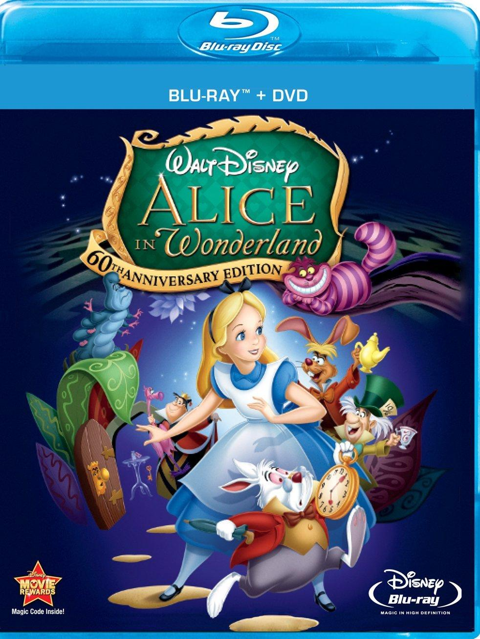 $9.96 Alice In Wonderland (Two-Disc 60th Anniversary Blu-ray/DVD Combo)