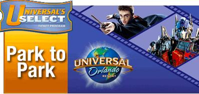 Buy 2 Days, Get 3rd Day Free!  Universal Studios Park to Park Tickets