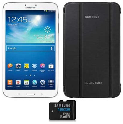 $199 Samsung Galaxy Tab 3 (16GB, WiFi, White) + Samsung Original Case & 16GB MicroSD Card