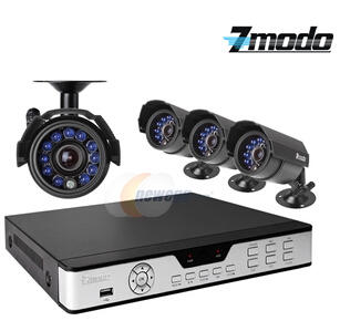 $149.99 Zmodo PKD-DK4216-500GB 4CH 960H DVR w/ 500GB HDD and 4 x 600TVL Day/Night Outdoor Cameras 3G Mobile Access Surveillance Kit