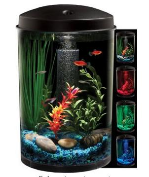 $24 KollerCraft AquaView 360 Aquarium Kit with LED Light, 3-Gallon