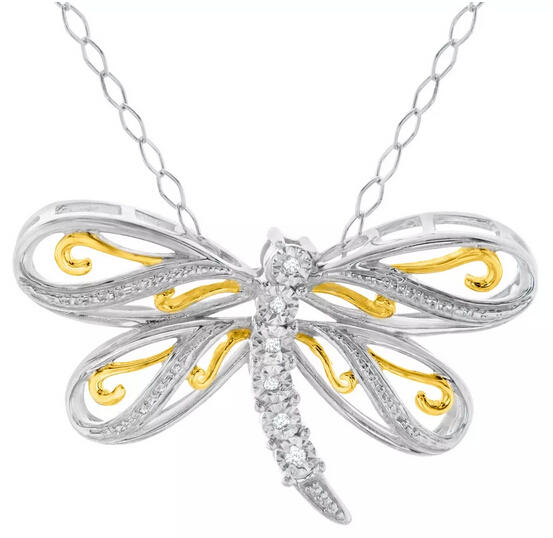 Dragonfly Pendant with Diamonds Only $29 Plus Free Shipping