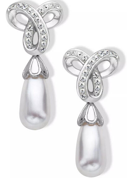 Drop Earrings with Swarovski Crystal & Pearls