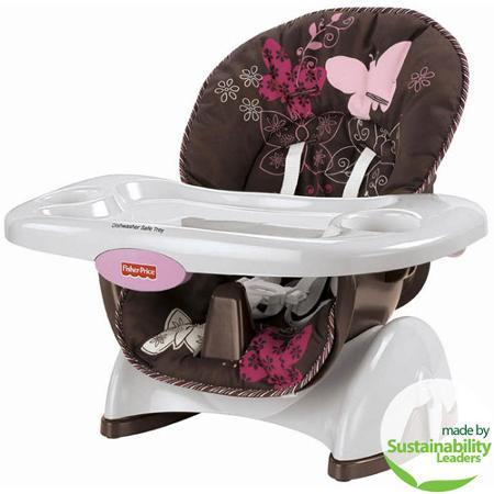$29.98 Fisher-Price - Space-Saver High Chair, Mocha Butterfly