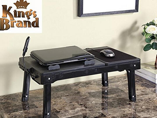 $32.99 Kings Brand Multifunctional Laptop Table Stand With Cooling Fan & USB Ports