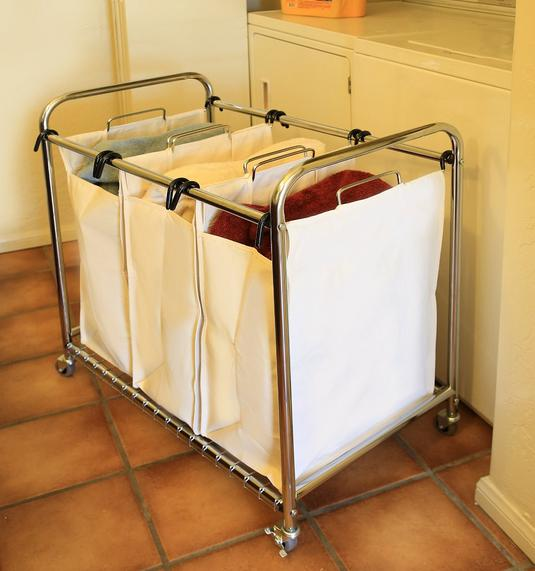 $44.61 Seville Classics Heavy-Duty 3-Bag Laundry Sorter Cart