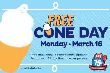 Free Small Vanilla Ice Cream Cone @ Dairy Queen
