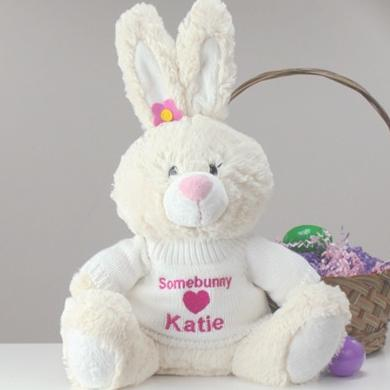 Embroidered Easter Bunny-12