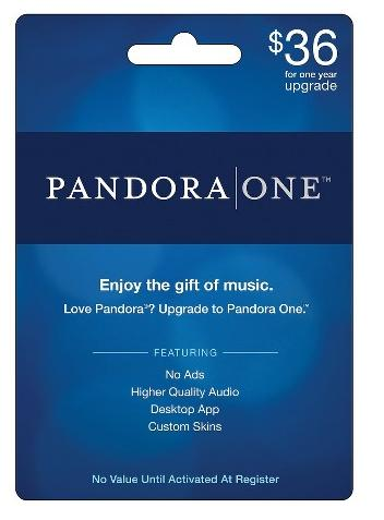 $36  Pandora One 1-Year Subscription