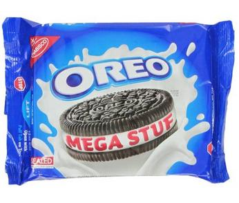 $2.38 Oreo Mega Stuf Chocolate Cookies, 13.2 Ounce