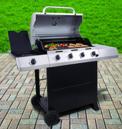 $170 Char-Broil Classic 480 40000 BTU 4-Burner Gas Grill with Side Burner