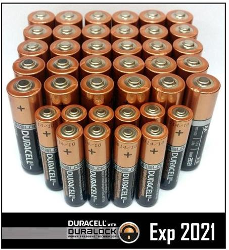 $11.99 Duracell 30 AA + 10 AAA Batteries Copper Top Alkaline DURALOCK