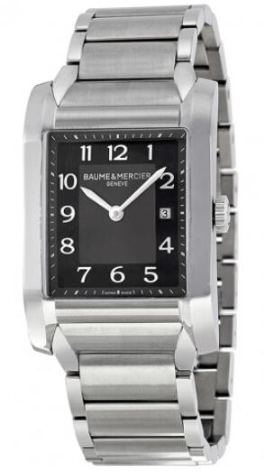 Baume and Mercier Black Dial Stainless Steel Ladies Watch BMMOA10021