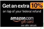 Receive up to 10% Amazon Gift Cardon top of your Federal Tax Refund with Turbo Tax