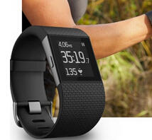 $244.99 Fitbit Surge Fitness Superwatch, Black, Large