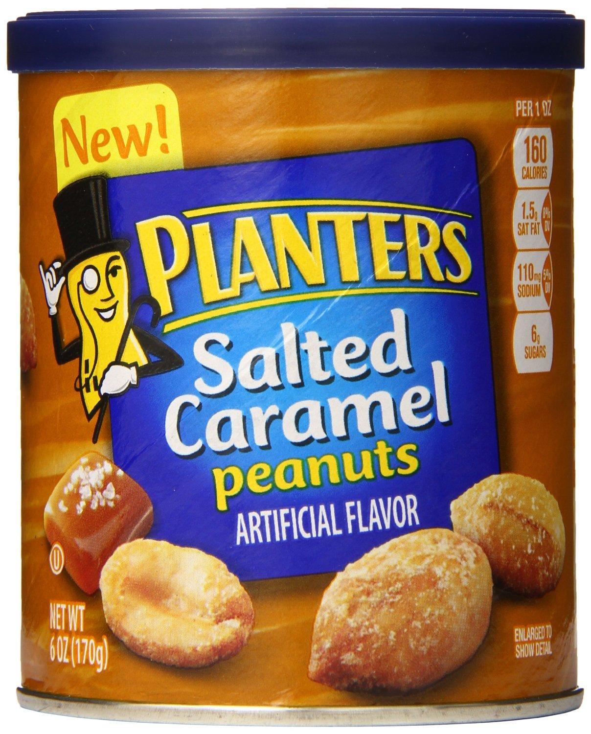 $8.43 Planters Peanuts, Salted Caramel, 6 Ounce (Pack of 8)