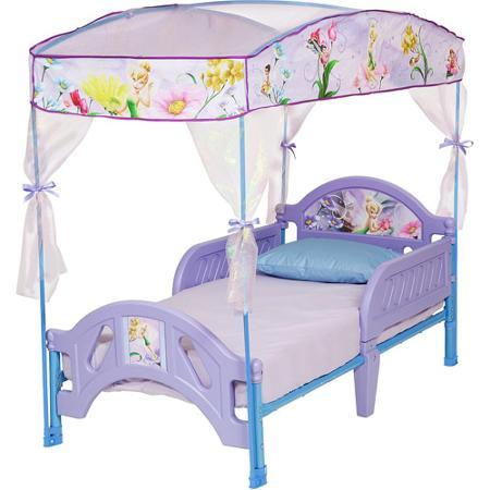 $65.98 Disney Tinkerbell Fairies Toddler Bed with Canopy