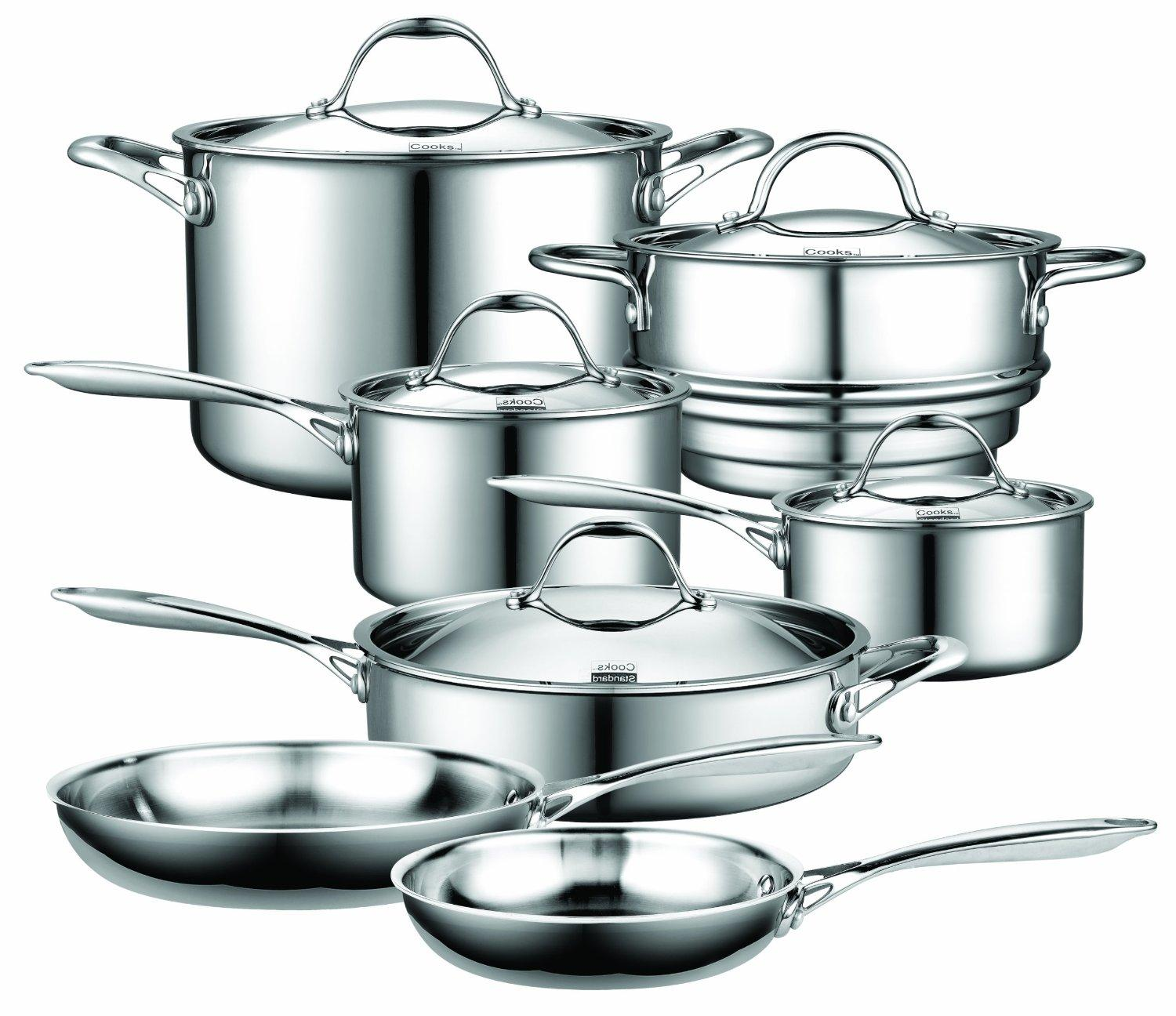$179.99 Cooks Standard Multi-Ply Clad Stainless-Steel 12-Piece Cookware Set