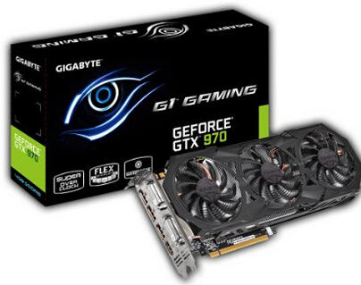 $319.99 Gigabyte GeForce GTX 970 G1 Gaming GDDR5 Pcie Video Graphics Card, 4GB