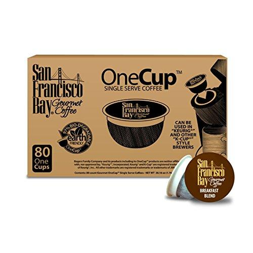$23.2 San Francisco Bay OneCup, Breakfast Blend, 80 Single Serve Coffees