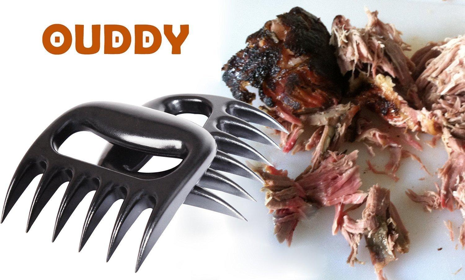 $7.89 Ouddy Heat Resistant Meat Claws Meat Forks, Easily Shred Pork & Brisket for BBQ, Set of 2