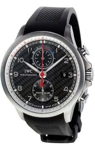 $9995 IWC Portuguese Yacht Club Automatic Chronograph Black Dial Mens Watch