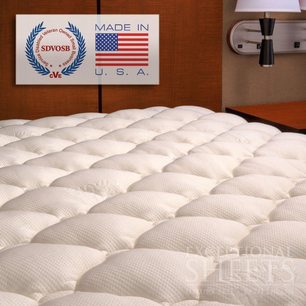 Starting from $70.99 ExceptionalSheets Extra Plush Rayon from Bamboo Fitted Mattress Topper