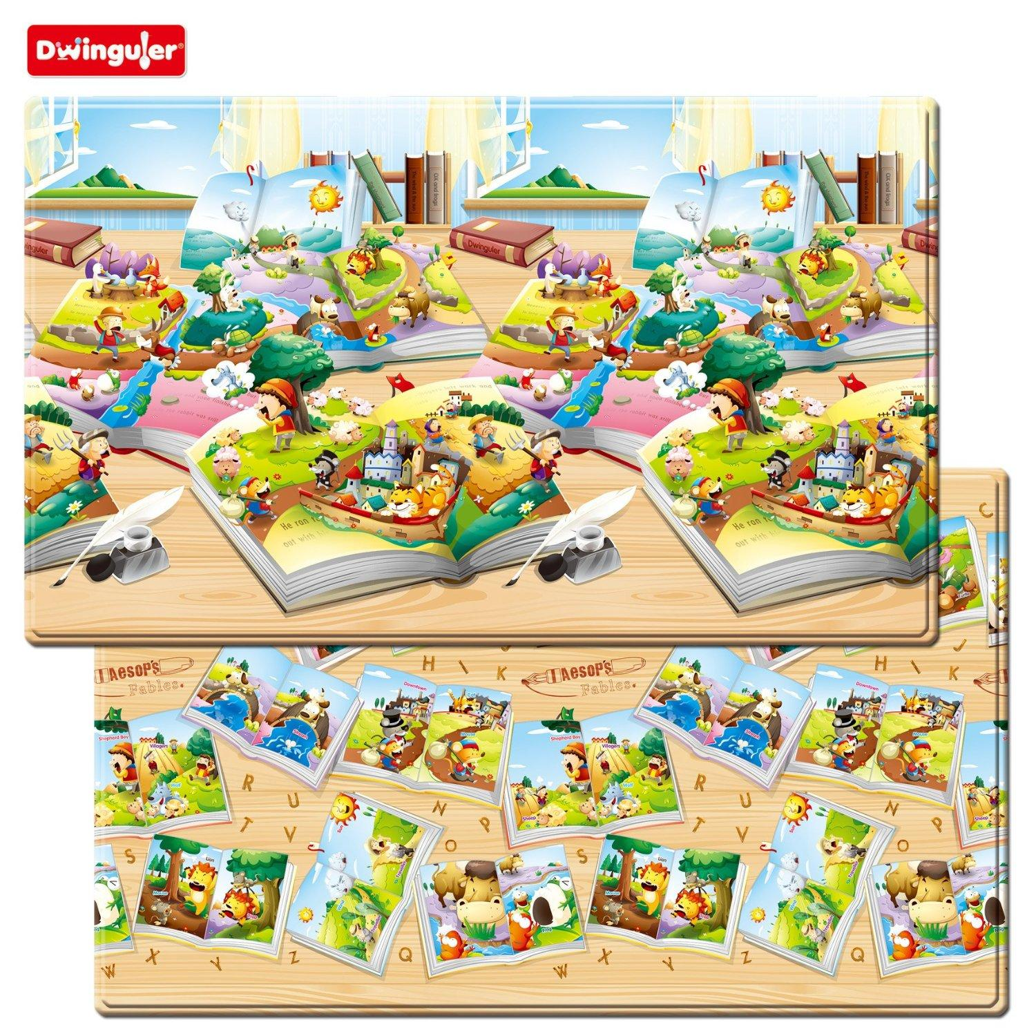$139.95 Dwinguler Augmented Reality Kids Play Mat (Large, Aesop's Fables)